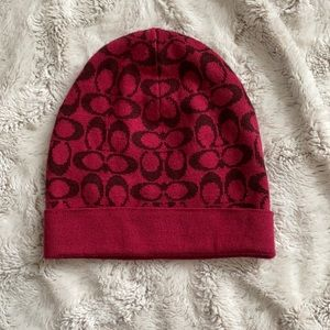 Coach Beanie Hat with classic C print